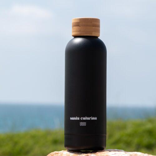 Black Ocean Water Bottle