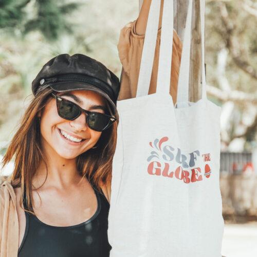 Tote bag- surf the globe